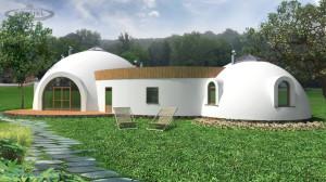 wizualizacja z ogrodem